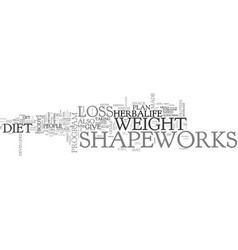 Win big with herbalife shapeworks diet products vector
