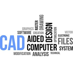Word cloud cad vector