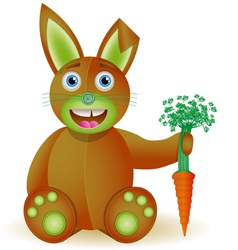 Bunny toy with carrot vector image
