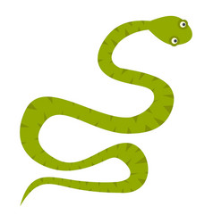 Green snake icon isolated vector