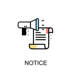 Notice graphic icon vector