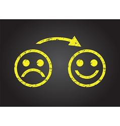 happy faces vector image