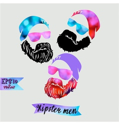 Hipster and dreamer-symbol of a young successful vector