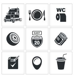 Truck icon set vector