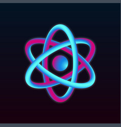 3d atom structure vector image vector image