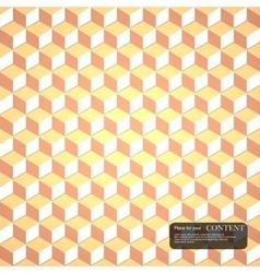 3d cubes gold pattern vector