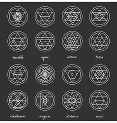 Set of geometric hipster shapes45662 vector
