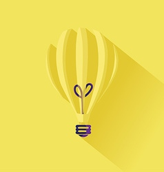 Minimalistic idea lightbulb concept in flat design vector