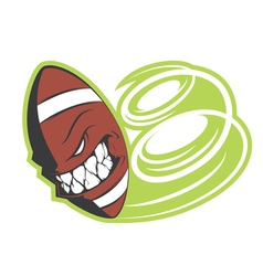 Crazy football sign vector