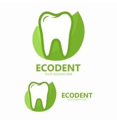 Dental clinic logo template vector