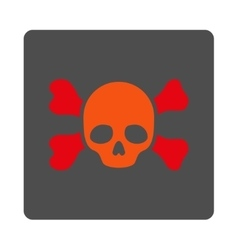 Death and bones rounded square button vector