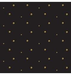 Gold foil glitter polkadot seamless pattern vector image