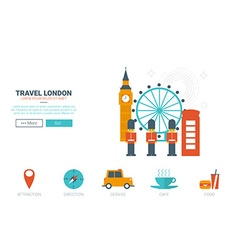 Travel london concept vector