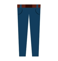 Pants male fashion isolated icon design vector