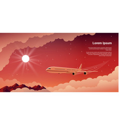 Above the clouds vector