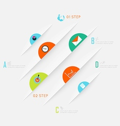 Abstract business info graphics template with vector image