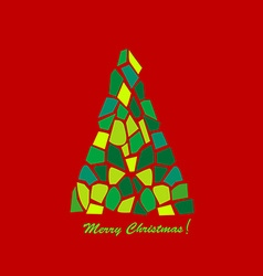 Abstract mosaic christmas tree vector