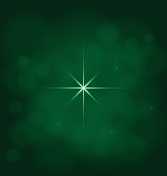 abstract star magic light sky bubble blur green vector image