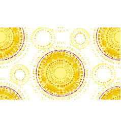 Abstract sunny seamless pattern vector