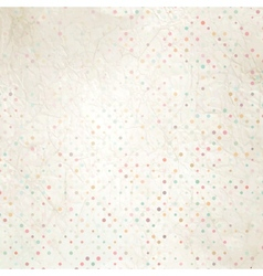 Aged and worn paper with polka dots EPS 10 vector image vector image