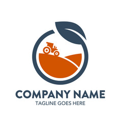 agriculture logo-8 vector image vector image