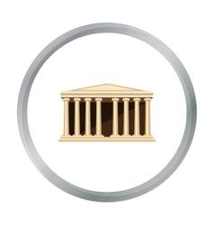 Antique greek temple icon in cartoon style vector image vector image