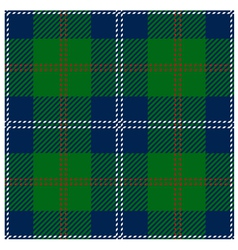 Blue Scottish Seamless Tartan Plaid vector image vector image