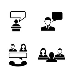 Business communication simple related vector