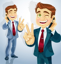 businessman character vector image vector image