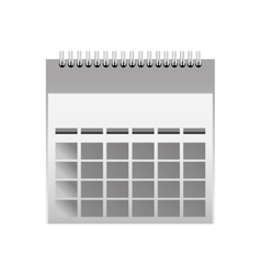 Calendar month date vector