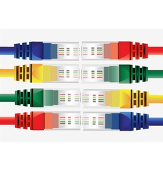 internet cables vector image