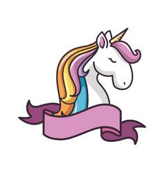 isolated magic unicorn vector image vector image