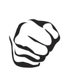 Line art fist vector