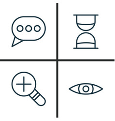 Network icons set collection of glance message vector