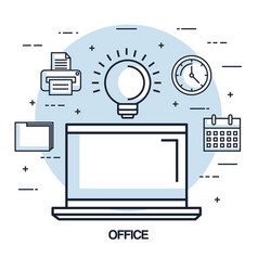 office laptop idea work business element vector image