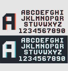 pixel game retro font vector image