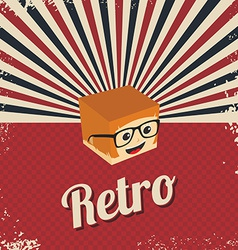 retro cartoon character vector image