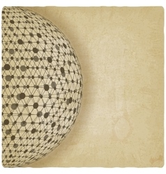 sphere network old background vector image