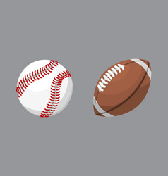 sport balls isolated tournament win round baseball vector image vector image