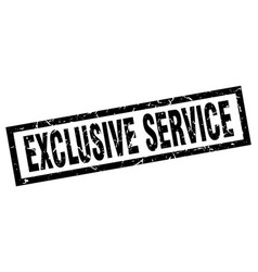Square grunge black exclusive service stamp vector