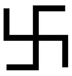 swastika fylfot icon black color flat style vector image