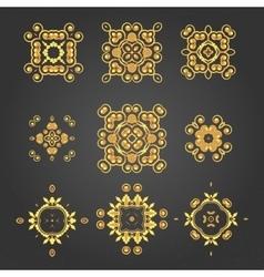 Swirl pattern set 2 vector