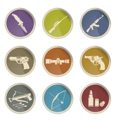 Weapon symbols icon set vector