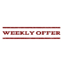 Weekly offer watermark stamp vector