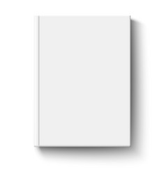 White book cover isolated vector