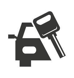 car vehicle keys icon vector image