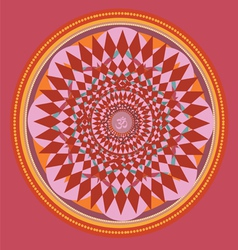 Red color mandala vector