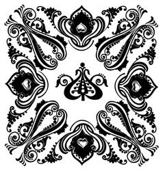 Vintage black floral swirling ornament vector image