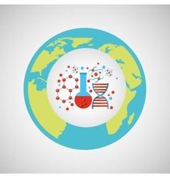 Eco science research structure molecule icon vector