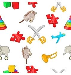 Kids fun pattern cartoon style vector